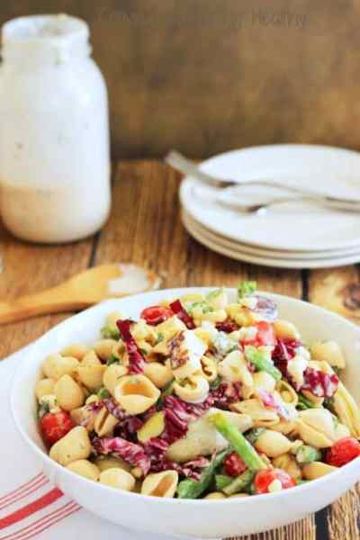 Farmer's Market Pasta Salad with Lemon-Herb Buttermilk Dressing