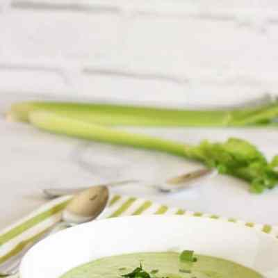Cool Cucumber Celery and Avocado Soup {Recipe ReDux}