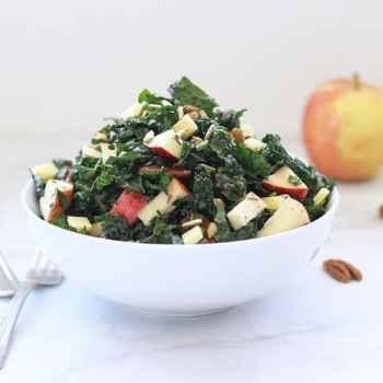 Kale Apple Salad with Cranberry Vinaigrette