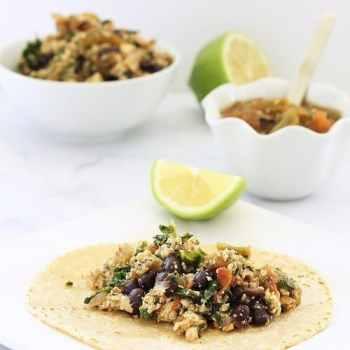 Mexican Tofu and Black Bean Scramble Craving Something Healthy