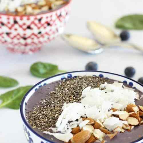 Immune Boosting Wild Blueberry Kefir Smoothie Bowl