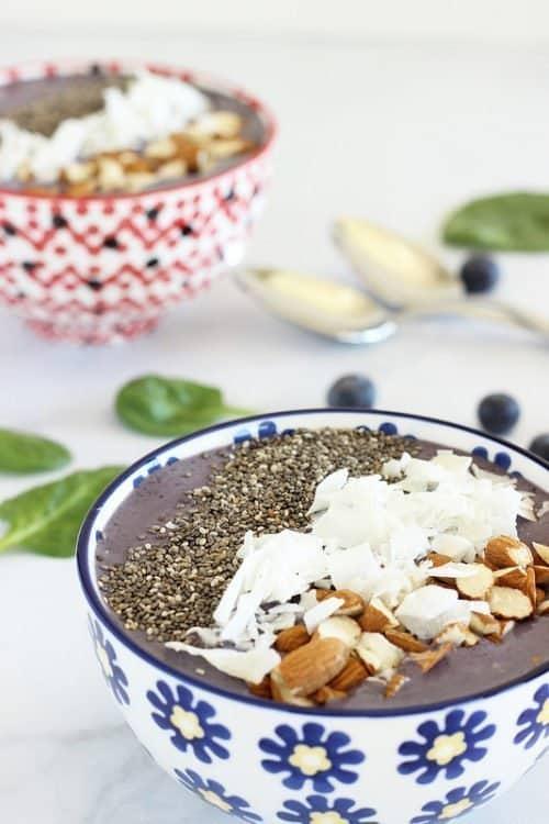 Wild Blueberry Kefir Smoothie Bowl|Craving Something Healthy