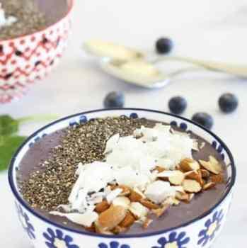 Immune Boosting Wild Blueberry Kefir Smoothie Bowl|Craving Something Healthy