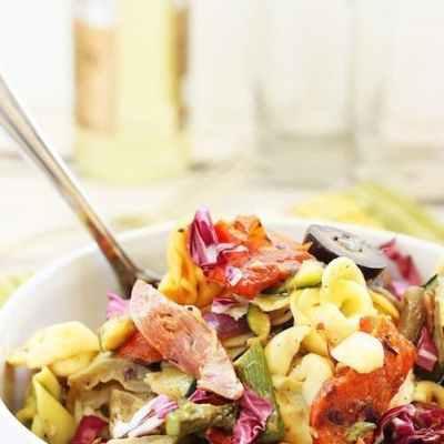Grilled Vegetable and Tortellini Antipasto Salad