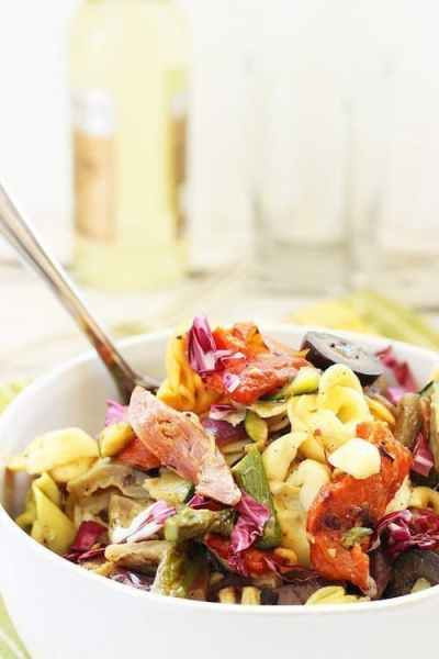 Grilled Vegetable and Tortellini Antipasto Salad