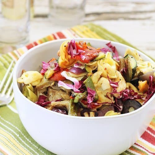 Grilled Vegetable and Tortellini Antipasto Salad Craving Something Healthy