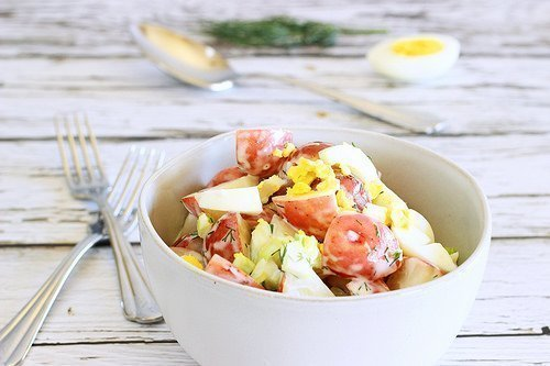 Light Tangy Old Fashioned Potato Salad|Craving Something Healthy