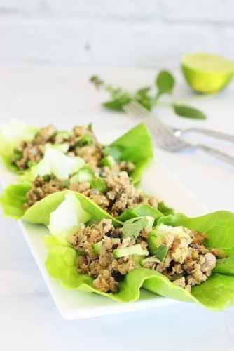 Thai Turkey Mushroom Larb Salad