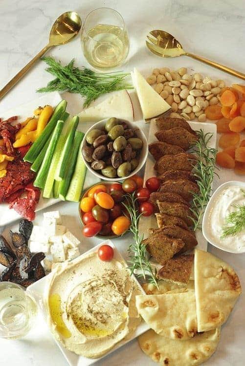 Meatless Mediterranean Mezze Platter   Craving Something Healthy