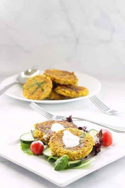 Spicy Lentil Cauliflower Falafel Cakes | Craving Something Healthy