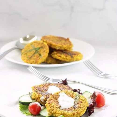 Spicy Lentil Cauliflower Falafel Cakes | Craving Something Healthy