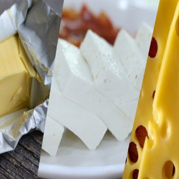 difference between cheese butter and paneer