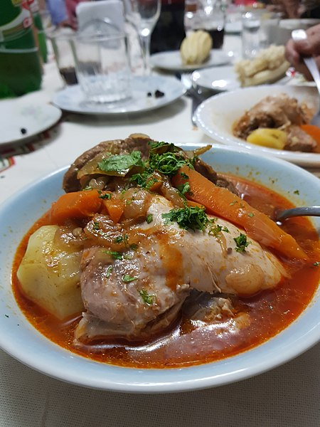picana dish during christmas celebration in bolivia