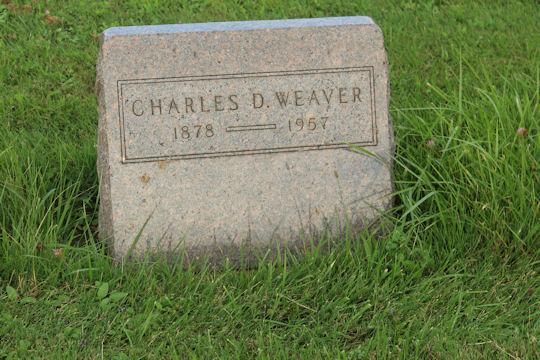 Charles D Weaver Headstone at St. Joseph Cemetery