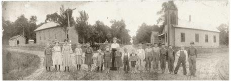 Windfall Church and School located northwest of Galion, Ohio.