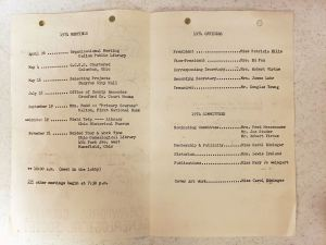 1974 Program Events and Officers