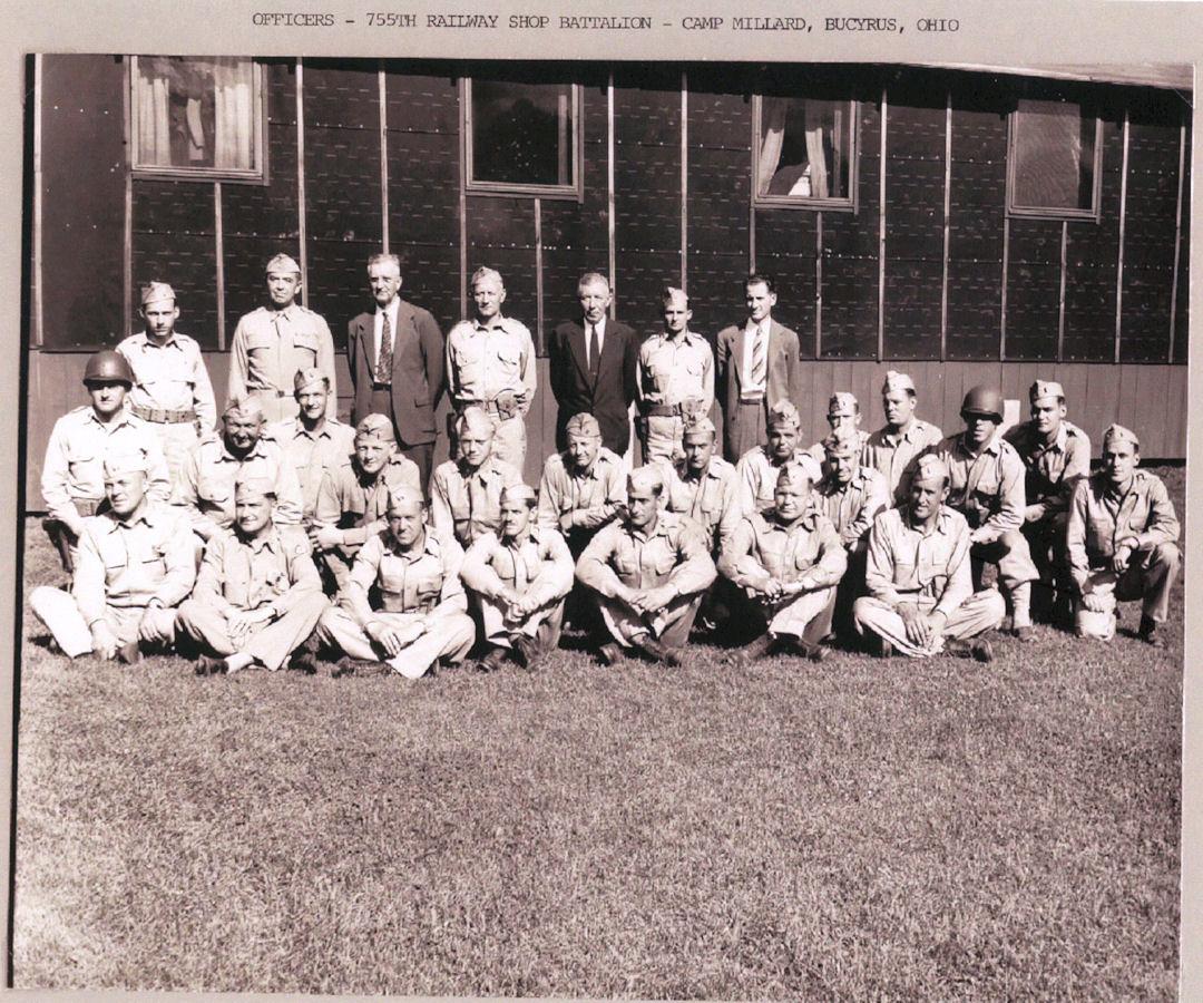 Officers 755th Railway Batt. Camp Millard