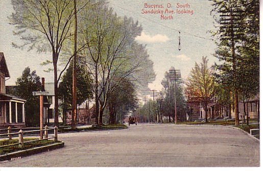 Looking north from the point where Marion Road meets and merges with Sandusky.
