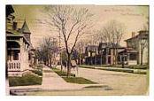 Unidentified Homes on East Rensselaer St in 1908