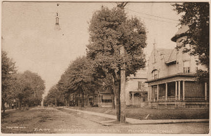 Whose home on East Rensselaer Street was this in 1923?