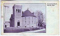 1908 Evangelical (Grace) Methodist Church, corner South Walnut Street, and Woodlawn and Hopley Avenues, Bucyrus