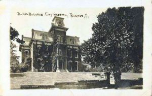 Monnette home, later became Monnette Memorial Hospital located at top of hill on North Sandusky near Plymouth St.