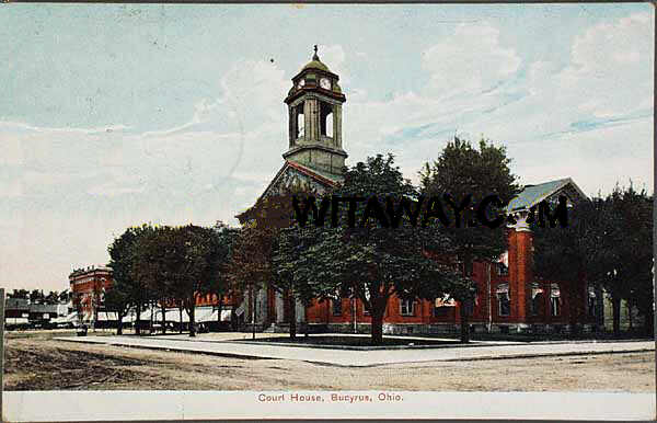This is one of the earliest postcards of the Courthouse I've found before the Dome was remodeled, dated 1909.