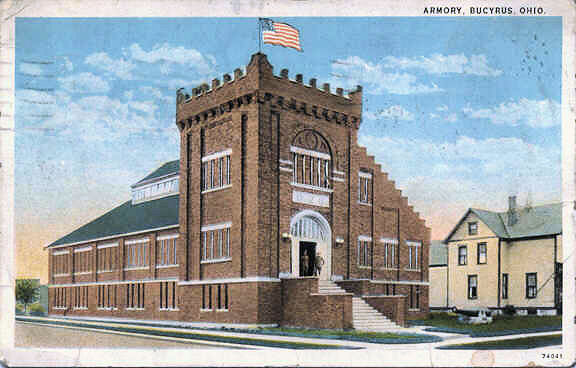 The Bucyrus Armory as it looked in 1929. It has been said that it served as a church in its early days. Does anyone know which church?