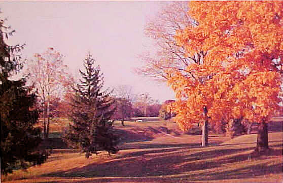 Bucyrus Country Club as it looked in the fall ca. 1920.