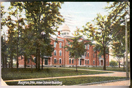 The Union High School as it looked in 1908 around the time it was being remodeled.