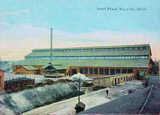 This postcard is called the Steel Plant. Would this have been the old Riddell or one of the foundries? and what year was it?