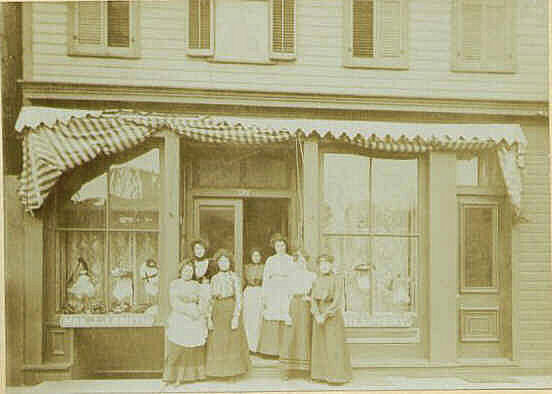 Exterior view of the Smith Millinery Shop on Washington Square.