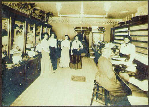 Interior view of the Smith Millinery Shop on Washington Square.