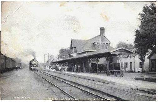Bucyrus Ohio Railroad Stop in 1909