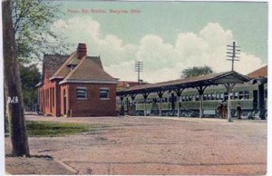 Rear view of Pennsylvania Railroad Station between 1910 to 1919