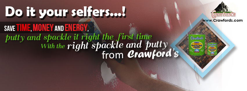 Do it your selfers...Save time, money and energy, putty and spackle it right the first time, with the right spackle and putty from Crawford's.