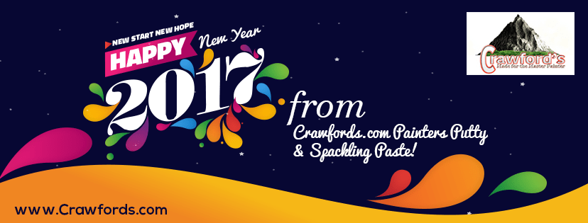 Happy New Year from Crawfords.com. Painters Putty & Spackling Paste!