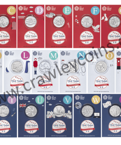 2018 The A to Z of Great British 10p coins in Uncirculated Royal Mint blister packs