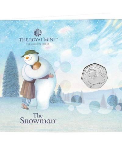 2020 Snowman Christmas 50p BU Card
