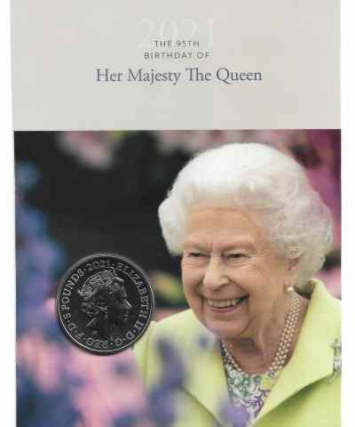 2021 Queen Elizabeth 95th Birthday £5 BU