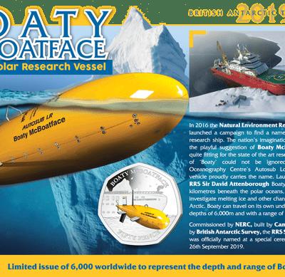 2019 Boaty McBoatface 50p BU