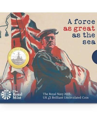 2015 The Royal Navy £2 BU