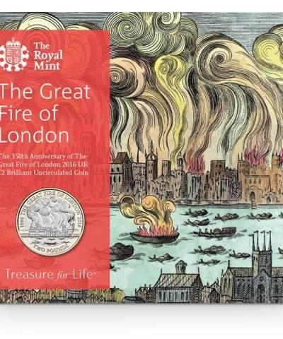2016 Great Fire of London £2 BU