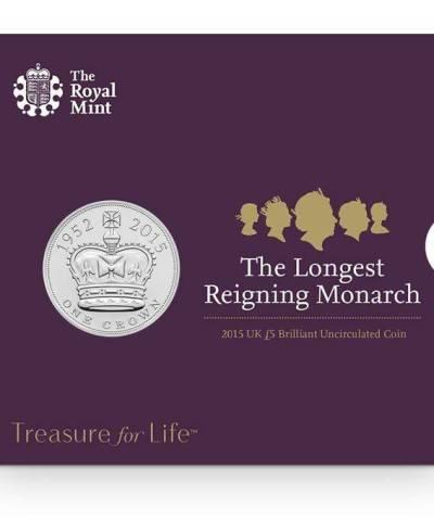 2015 The Longest Reigning Monarch £5 BU