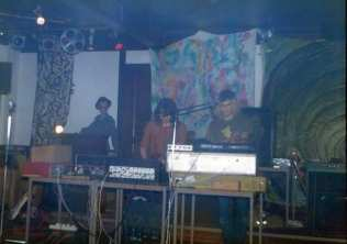 Doomage Khult & Strangely Perfect setting up - Pete Flynn says Gosforth Assembly Rooms, SP inclines to The Mitre