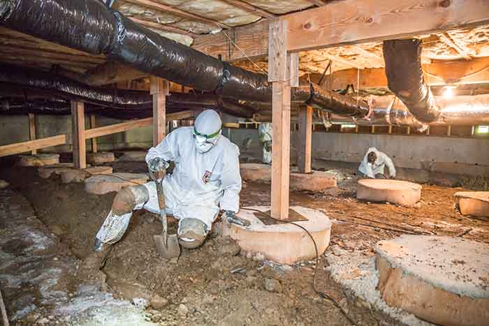 water in crawl space