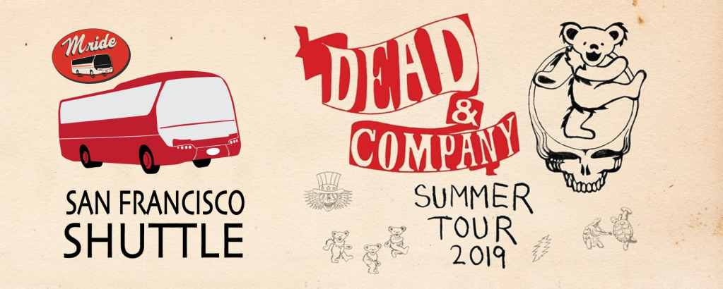 Dead & Company Party Bus to Shoreline Amphitheater (DAY 1)