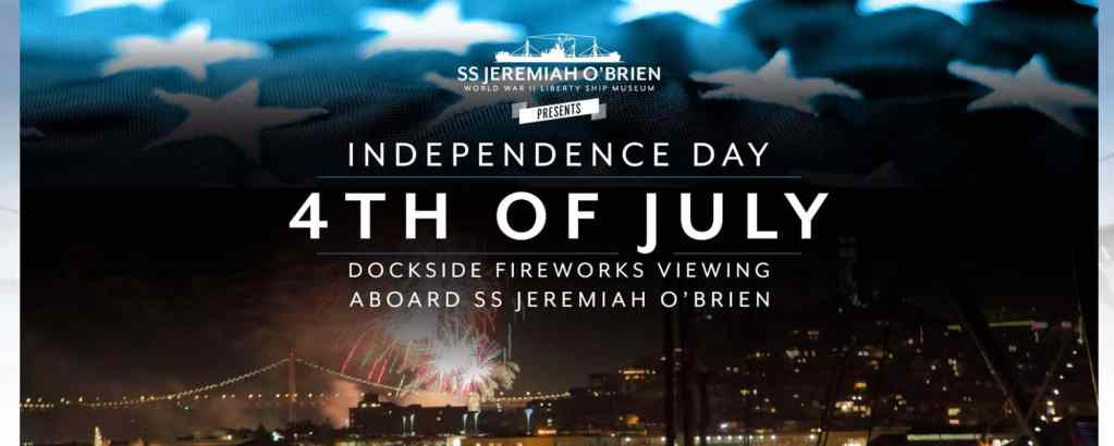 SS Jeremiah Fireworks Viewing Party