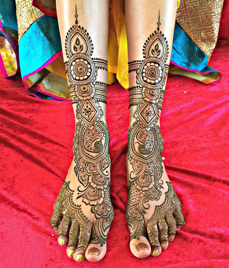 Mehndi Patterns For Legs : Best leg mehndi designs