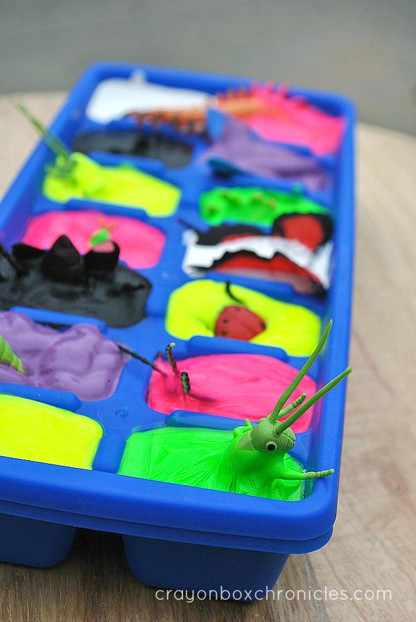 Melting Insect Sensory Painting Crayon Box Chronicles